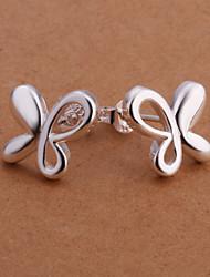 r&d farfalla in argento placcato orecchini