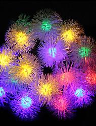 LED String Light 100 Lights Modern Snowball Shape Chromatic Plastic 10m 220V
