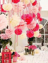 1pcs 5 '' Seidenpapier Pom Poms Bausätze dekorative Blume Bälle für Urlaub, Geburtstag, Hochzeit Baby-Dusche Partei