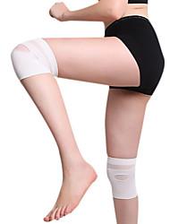 fl grande taille ultra-mince ceinture spontanée de protection des genoux chauffage multicolore magnétique (2 pcs) (blanc, beige)