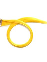 20 Zoll Golden Yellow Clip in Haarverlängerungen Kunsthaar