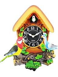 megafeis® T320 belle quartz horloge murale paon oiseau style maison chirm ondulée nouveau cadeau de Noël pour les enfants