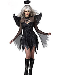 Fallen Angel Black Terylene Women's Halloween Costume