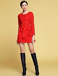 yimilan® vêtements pour femmes de la nouvelle mode de l'eau bowknot soluble robe rouge