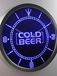 nc0312 Cold Beer Bar Pub Club Neon Sign LED Wall Clock