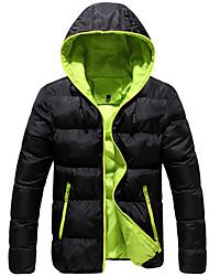 tout contraste match manteau couleur de coton ouaté