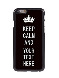Personalized Case Black Keep Calm Design Metal Case for iPhone 6 Plus