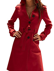 PINKLADY Stylish Cashmere Chalaza Long Coat