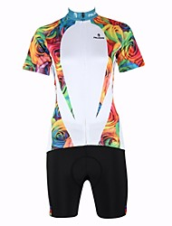 PaladinSport New Cycling Jersey  Women's  Rose Two Style 100% Polyester Short Sleeve Cycling SuitWhite