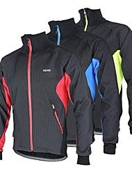 Arsuxeo Cycling Jacket Men's Bike Jacket Fleece Jackets Tops Thermal / Warm Windproof Anatomic Design Fleece Lining Breathable Reflective