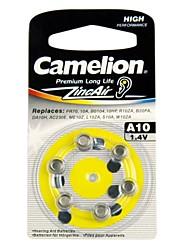 camelion 1.4v a10 zinc pile bouton de l'air (x6)