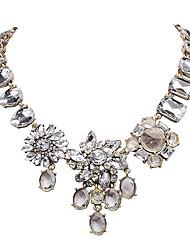 fashion branco cristal colar de ouro flor jane pedra das mulheres para a festa