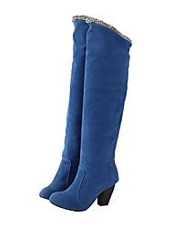 Suede Chunky Heel bidirectionnelles Boots (plus de couleurs)