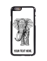 Personalized Case Elephant Design Metal Case for iPhone 6 Plus