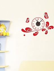 zooyoo® DIY цвет красный и черный указатель Электронная батарея хронометрист настенные часы настенные наклейки домашнего декора для вас