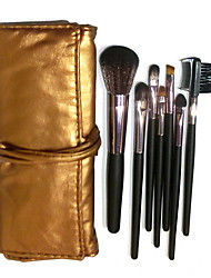 7 Makeup Brushes Set Nylon / Synthetic Hair / Goat Hair Face / Lip / Eye