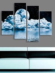 allungato tela cielo fantasia pittura decorativa set di 4