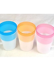 Multifunctional Candy Color Handle Tooth Cup (Random Color)