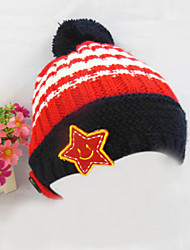 Kid's Fashion Joker Lovely Warm Heavy Hair Ball Five Star Hat