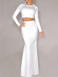 Women's   Maxi Skirt Set in Two-piece  suit  (blouse&Skirt)