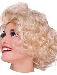 Marilyn Monroe Short Curly Golden 28cm Women's Halloween Party Wig Halloween Props Cosplay Accessories