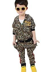 Boy's Cotton Blend Clothing Set,Winter / Fall / Spring Leopard