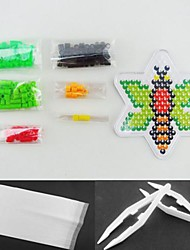 Bee 5mm Perler Beads Kit Fuse Hama Beads DIY Jigsaw(Suitable Color Beads Set+1 Pegboard+1 Ironing Paper+1 Tweezer)