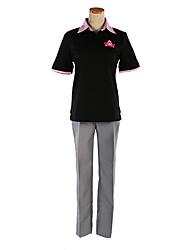 gratis! rin Matsuoka negro&gris traje de cosplay