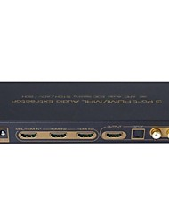 V1.4 3 Port HDMI to HDMI with Audio Extractor EDID Setting ARC 3x1 Switcher Splitter 4K 3D Support SPDIF L/R Audio
