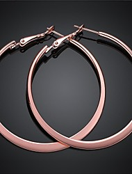 Earring Hoop Earrings Jewelry Party / Daily Alloy / Gold Plated Gold