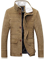 Men's Regular Parka Coat , Organic Cotton Pure Long Sleeve