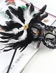 pena de retenção para o feriado preto pvc máscara meia-face