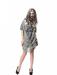 Dusty Ghost Gray Dress Women's Halloween Costume