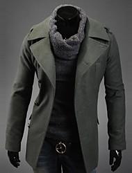 homens Beilun moda casual single-breasted fino de alta qualidade casaco de tweed trincheira o