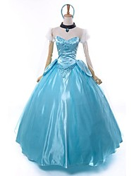 The Little Glass Slipper Princess Cinderella Deluxe Cosplay Costume