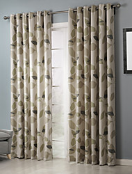 Room Darkening Country Elegant Artistic Leaves Curtain (Two Panels)
