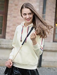 estilo europeu de cor sólida ocasional hoodie das veri gude® mulheres