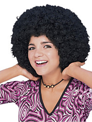 Curly Afro Girl  Black 28cm Women's Halloween Party Wig