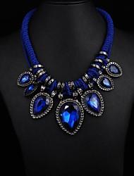 Women's Big Gem Water Drop Necklace