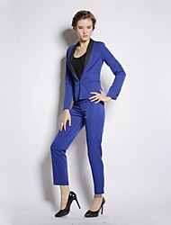 Women's Lapel Collar OL Suit(Blazer&Pants)