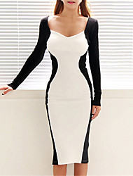 VERYM Women's Long Sleeve Slim Bodycon Sexy Dresses
