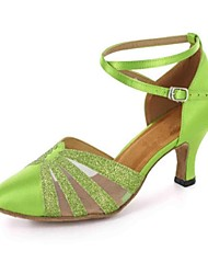 Latin Women's Sandals Customized Heel with Buckie Dance Shoes (More Colors)