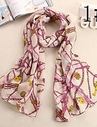 Ludy Women's Woolen Chiffon Presents Pattern Scarf