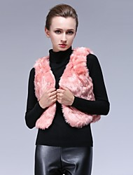 Women's Fox Fur Short Waistcoat
