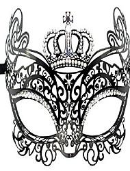 lujo metal de diamante incrustado la reina de la máscara de disfraces de la corona