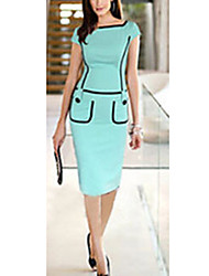 manga curta lápis de cor pura vestidos finos vicone das mulheres