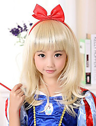 Sweet Snow White Light Golden 40cm Kids' Halloween Party Wig