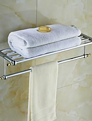 Ceramic Brass Chrome Finish Towel Rack