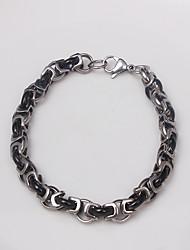 Eruner®Steel Bracelet Multilayer Black Titanium Hand-Made Bracelet