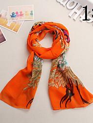 Ludy Women's Western Fashion Imitation Silk Scarf